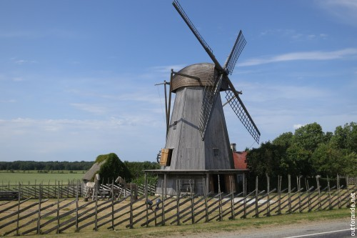 The typical windmills in this area are ingenious in their design.