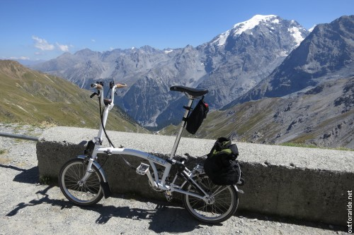 One last view back at the Ortler before heading over the saddle of the pass.